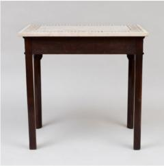 George III carved mahogany fretwork table - 1387322