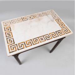 George III carved mahogany fretwork table - 1387323