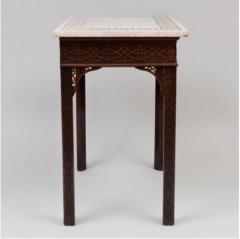 George III carved mahogany fretwork table - 1387324