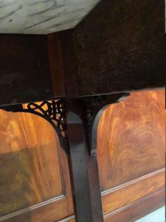 George III carved mahogany fretwork table - 1387325