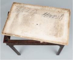 George III carved mahogany fretwork table - 1387326