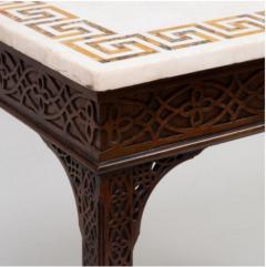 George III carved mahogany fretwork table - 1387327