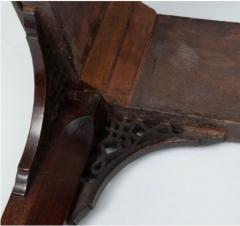 George III carved mahogany fretwork table - 1387330