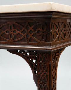 George III carved mahogany fretwork table - 1387331