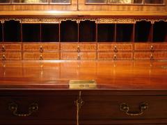 George III period mahogany bureau bookcase of large scale Wright Elwick - 2032048