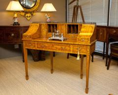 George III style satinwood and marquetry Carlton House desk - 2032388