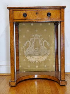 George IV Burr Elm Dressing Table With Silk Screen Circa 1825 - 1306375