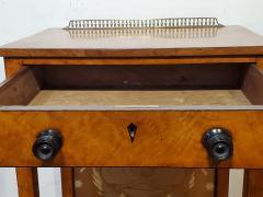 George IV Burr Elm Dressing Table With Silk Screen Circa 1825 - 1306378