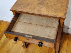 George IV Burr Elm Dressing Table With Silk Screen Circa 1825 - 1306379