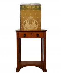 George IV Burr Elm Dressing Table With Silk Screen Circa 1825 - 1306386