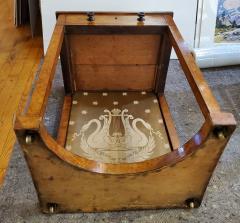 George IV Burr Elm Dressing Table With Silk Screen Circa 1825 - 1306387