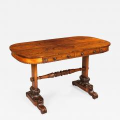 George IV Carved Goncalo Alves Library or Sofa Table - 684943