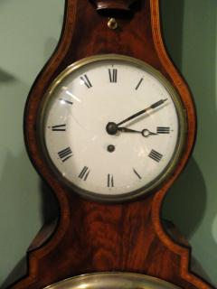 George IV Mahogany Wheel Barometer signed G Rossi Exchange St Norwich  - 243326