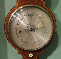 George IV Mahogany Wheel Barometer signed G Rossi Exchange St Norwich  - 243327