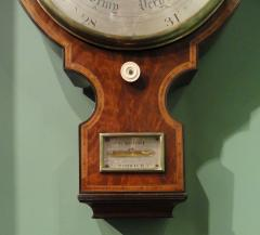 George IV Mahogany Wheel Barometer signed G Rossi Exchange St Norwich  - 243328
