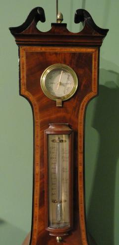 George IV Mahogany Wheel Barometer signed G Rossi Exchange St Norwich  - 243330