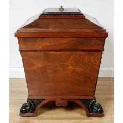 George IV style brass mounted mahogany antique wine cooler - 1942676