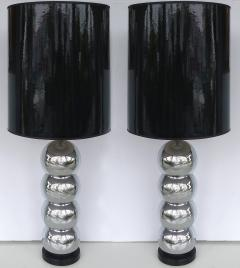 George Kovacs George Kovacs Stacked Ball Table Lamps With Gloss