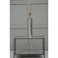 George Kovacs Minimalistic Chrome Cylinder Table Lamp By George Kovacs - 1080912