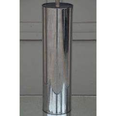 George Kovacs Minimalistic Chrome Cylinder Table Lamp By George Kovacs - 1080913