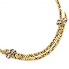 George LEnfant 1950s Adjustable Gold and Diamond Necklace Georges LEnfant for Herm s - 287793