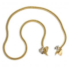 George LEnfant 1950s Adjustable Gold and Diamond Necklace Georges LEnfant for Herm s - 287795