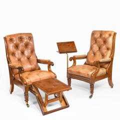 George Minter A pair of William IV adjustable mahogany library armchairs by George Minter - 762296