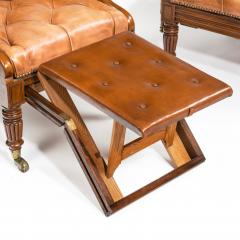 George Minter A pair of William IV adjustable mahogany library armchairs by George Minter - 762298