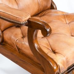 George Minter A pair of William IV adjustable mahogany library armchairs by George Minter - 762301
