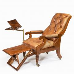 George Minter A pair of William IV adjustable mahogany library armchairs by George Minter - 762303