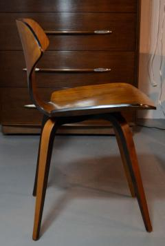 George Mulhauser Set of Four George Mulhauser Walnut Plywood Chairs - 158283