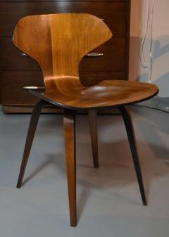 George Mulhauser Set of Four George Mulhauser Walnut Plywood Chairs - 158284