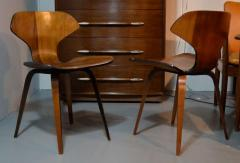 George Mulhauser Set of Four George Mulhauser Walnut Plywood Chairs - 158285