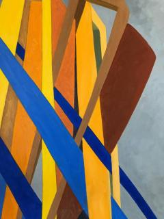 George Mullen Orange and Blue Abstract on Grey by George Mullen - 330200