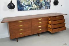 George Nakashima American Modern Walnut and Brass 12 Door Chest - 565465