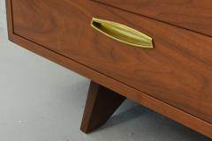 George Nakashima American Modern Walnut and Brass 12 Door Chest - 565469