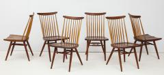 George Nakashima Conoid Dining Table Accompanied by Set of Six New Chairs - 1276910