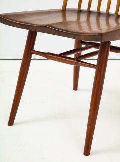 George Nakashima Conoid Dining Table Accompanied by Set of Six New Chairs - 1276916