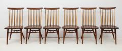 George Nakashima Conoid Dining Table Accompanied by Set of Six New Chairs - 1276917