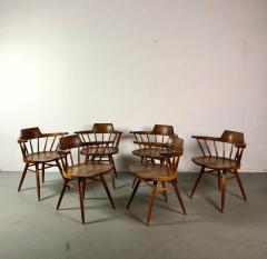 George Nakashima Early One of a Kind George Nakashima Dining Set with Six Captain Chairs USA 1966 - 1026131