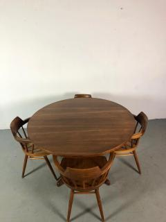 George Nakashima Early One of a Kind George Nakashima Dining Set with Six Captain Chairs USA 1966 - 1026137