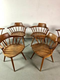 George Nakashima Early One of a Kind George Nakashima Dining Set with Six Captain Chairs USA 1966 - 1026139