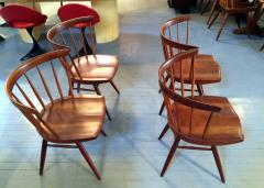 George Nakashima Early Set of Four Straight Back Chairs - 110903