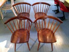 George Nakashima Early Set of Four Straight Back Chairs - 110904
