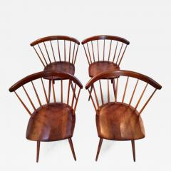 George Nakashima Early Set of Four Straight Back Chairs - 112598
