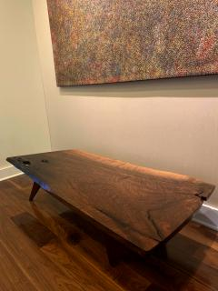 George Nakashima Early Slab Walnut Coffee Table George Nakashima - 1066389