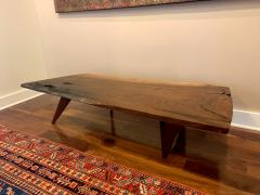 George Nakashima Early Slab Walnut Coffee Table George Nakashima - 1066390