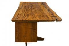 George Nakashima George Nakashima African Zebrawood Walnut Double Pedestal Desk - 1118318