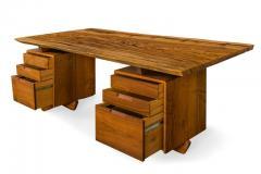 George Nakashima George Nakashima African Zebrawood Walnut Double Pedestal Desk - 1118319