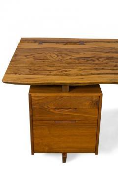 George Nakashima George Nakashima African Zebrawood Walnut Double Pedestal Desk - 1118320